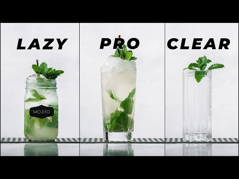 How to make a Mojito Cocktail Lazy, Pro, Clarified | How to make a clarified Mojito cocktail