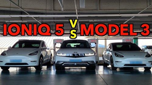 Hyundai IONIQ 5 vs. Tesla Model 3 – Back to back comparison