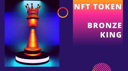 ✅ NFT TOKEN - Bronze King - Chess Piece