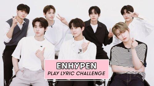 ENHYPEN Sings BLACKPINK, BTS, Olivia Rodrigo, Dua Lipa & More   Lyric Challenge   Seventeen