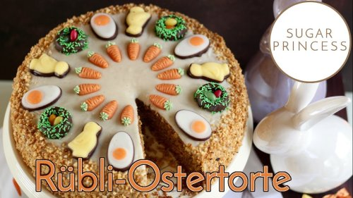 Saftiger Rüblikuchen mit Vanille-Frosting: Einfachen Osterkuchen backen!  | Rezept von Sugarprincess