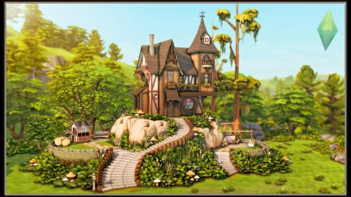 Hilltop Abode - No CC - TS4 Cottage Living - The Sims 4 Stop Motion Build