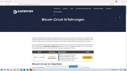 Bitcoin Cirucit Erfahrungen und Test - Betrug oder nicht? - easy-to-read.eu