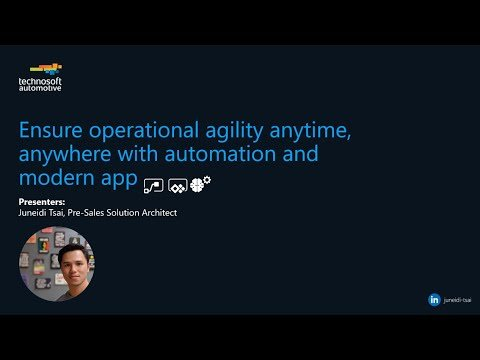 Ensure Operational Agility Anytime, Anywhere with Automation and Modern App
