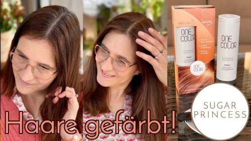 Friseur daheim! Haare färben mit One Color by Keralock/ Rabattcode für Euch! | Sugarprincess Vlog