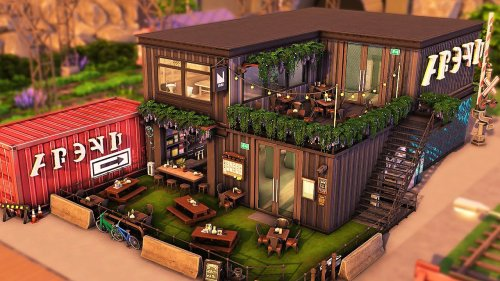 Club, Bar & Grill | The Sims 4 Speed Build
