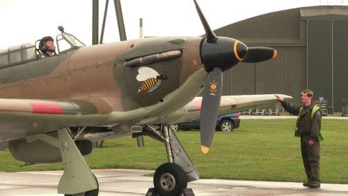 Hawker Hurricane Mk.IIc LF363 Engine Start & Taxy
