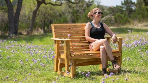 DIY Outdoor Bench Glider