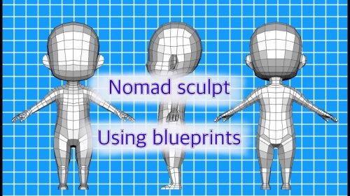 Nomad sculpt- using blueprints
