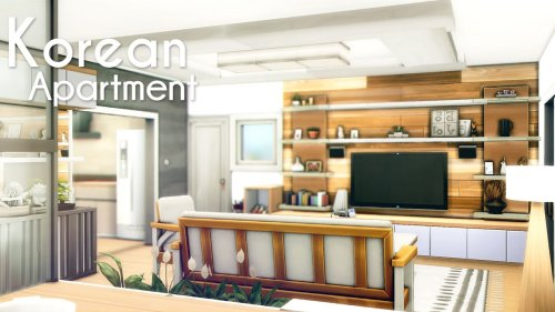 Aesthetic Korean Apartment 🇰🇷 🏙️    The Sims 4   Speed Build   No CC + Download Links