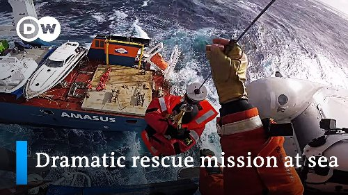 Coast guard saves crew from Dutch cargo ship in danger of capsizing | DW News