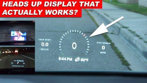 Hudway Drive WORTH THE HYPE? Car Heads Up Display Review (HUD Install) | AutoFun | Hüseyin GÜZEL
