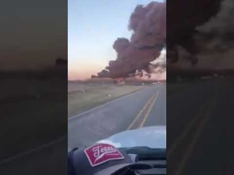 Texas Semi-Truck Hits Freight Train Carrying Gasoline And Guess What? It Blew Up…