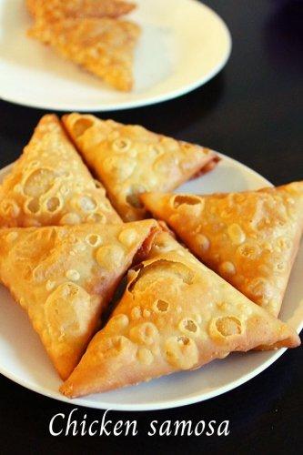 chicken samosa recipe, iftar snack - Yummy Indian Kitchen