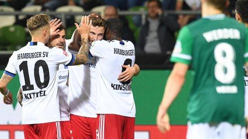 HSV gewinnt Derby in Bremen