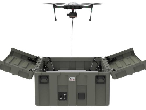 Portable drone hangar gets military certification | ZDNet