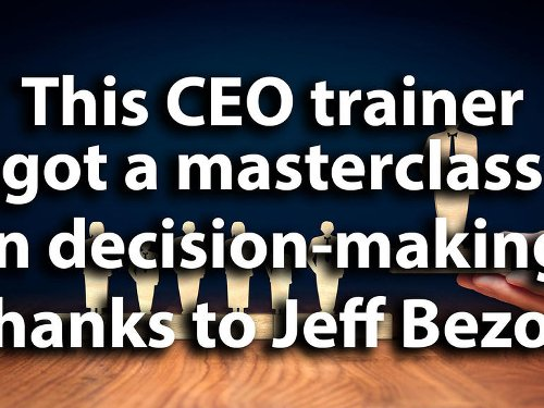 This CEO trainer got a masterclass in decision-making thanks to Jeff Bezos - Video | ZDNet
