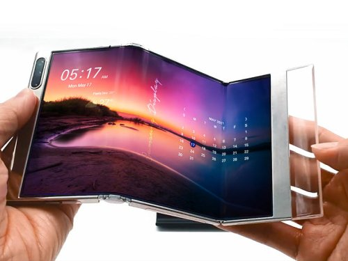Samsung Display shows off OLED panel that can fold twice | ZDNet