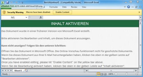 Hacker attackieren Excel-Dateien
