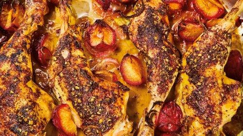 Huhn mit Pflaumen: Huhn, aber herbstlich