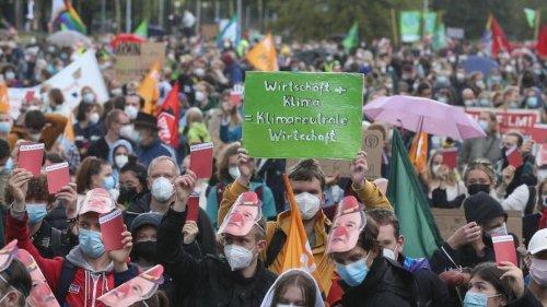 Demonstrationen: Zehntausende demonstrieren in Sachsen für mehr Klimaschutz
