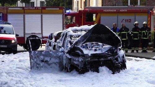 Notfall: Verletzte bei Auto-Explosion nahe Köln