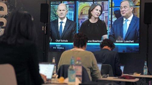 Kanzlerkandidaten: TV-Triell: Dritter Schlagabtausch vor Bundestagswahl