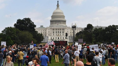 USA: Nur wenige Trump-Anhänger bei Kundgebung am US-Kapitol