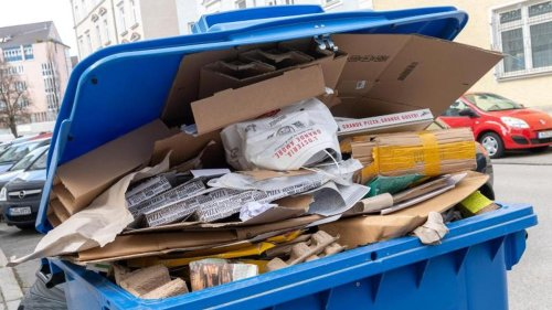 Abfall: Nur wenig mehr Papierabfall: Häufig neben der Tonne