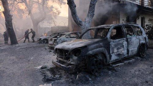 Griechenland: Schwere Waldbrände in Athener Vororten