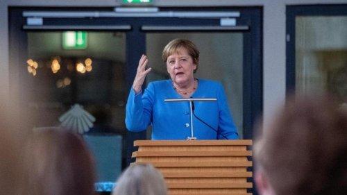 Bundestag: Schild an Merkels Wahlkreisbüro in Stralsund abgebaut