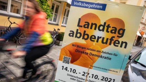 Gesellschaft: Umstrittenes Landtags-Volksbegehren läuft äußerst schleppend