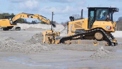 Sandaufspülung auf Rügen: Erster Abschnitt abgeschlossen