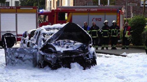 Verkehr: Verletzte bei Auto-Explosion in Hürth bei Köln