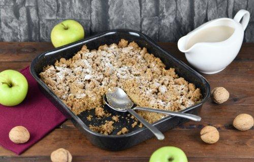Apple Crumble mit Walnüssen und Haferflocken – Zimt & Chili