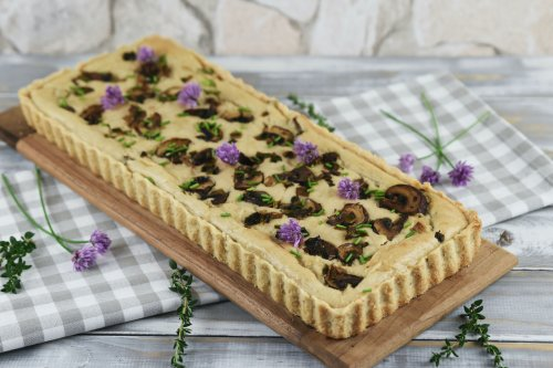 Quiche mit Lauch und Pilzen – vegan und glutenfrei
