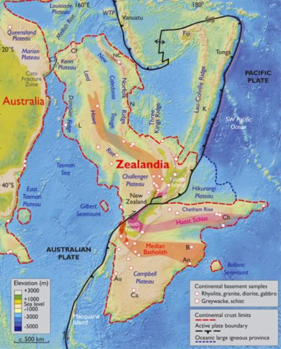Zealandia, the world's 8th continent, linked to the forging of the Pacific Ring of Fire