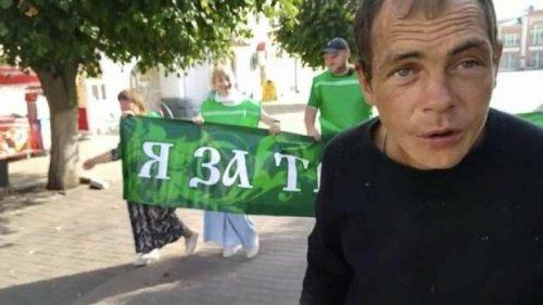 """""""Я - алкоголик из Ельца"""": в России мужчина испортил флешмоб за здоровый образ жизни"""
